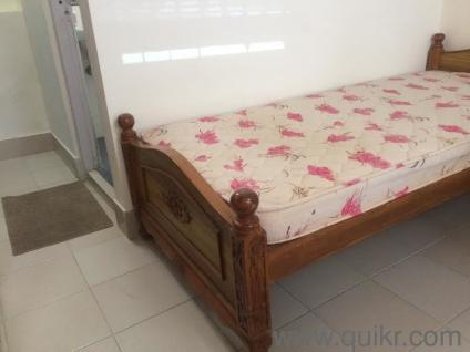 Teakwood Single Cot with mattress for sale - Almost Home - Office
