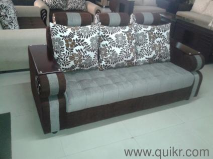 Sofa Set 311 With Wooden Arms At Factory Price   Brand Home   Office  Furniture   Hyderabad | QuikrGoods