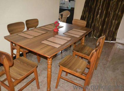 Pure Teak Wood Dining Table 6 Seater - A Grade Teak Wood - Gently Home -  Office Furniture - Bangalore  QuikrGoods
