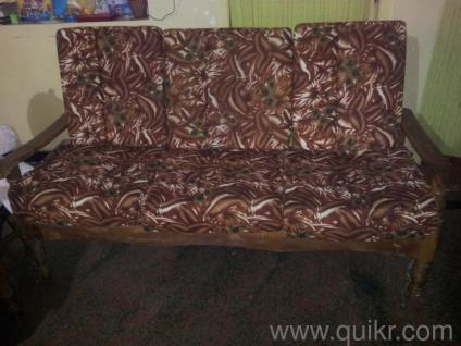 Teak wood Sofa five seater - Gently Home - Office Furniture