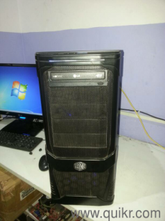 HP 22 inch MonitorDesktop COOLER MASTER CABINET With COOLER MASTER ...