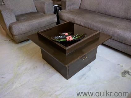 Attractive Wooden Center Table With Glass Top   Gently Home   Office Furniture    Hyderabad | QuikrGoods