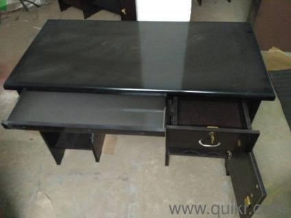Brand New 4x2x2 5 Feet Office Table Plus Md Chair Withb Steel Arm And Leg For Fixed Price Home Furniture Hyderabad